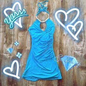 Super Sexy Gem Encrusted Mini Dress